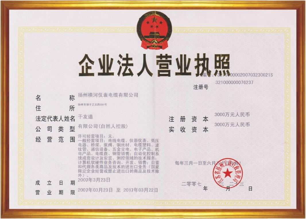 扬州横河仪表电缆有限公司