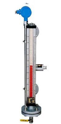 顶装磁性翻板液位计