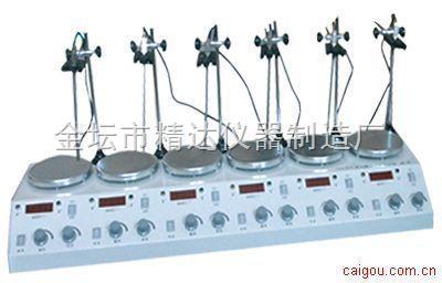 HJ-4A\6A数显多头磁力加热搅拌器