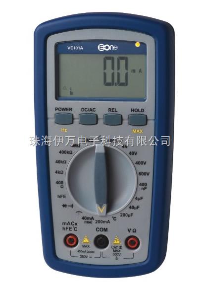 VC101A:  全保护可充电数字万用表