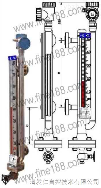 导波雷达和磁翻柱双系统磁性翻柱液位计