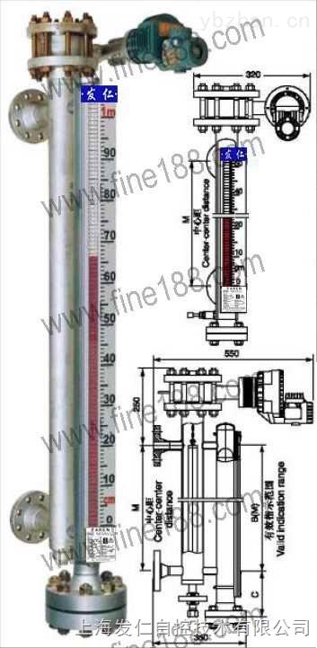 电浮筒和磁翻柱双系统磁性翻柱液位计
