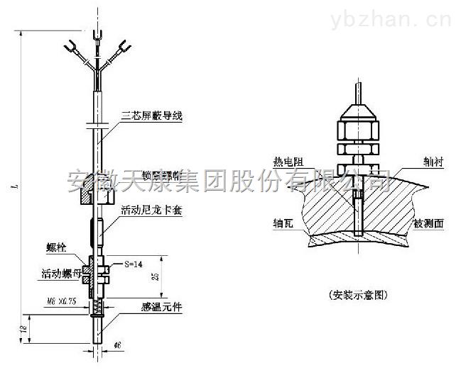 天康集团-供应室内用铜热电阻WZC-190