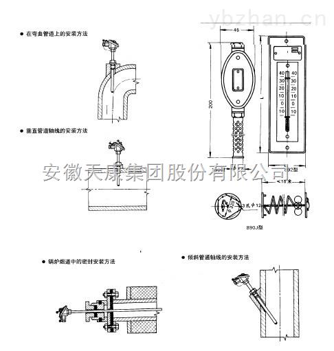 天康集团-供应室内用铜热电阻【WZC-190】