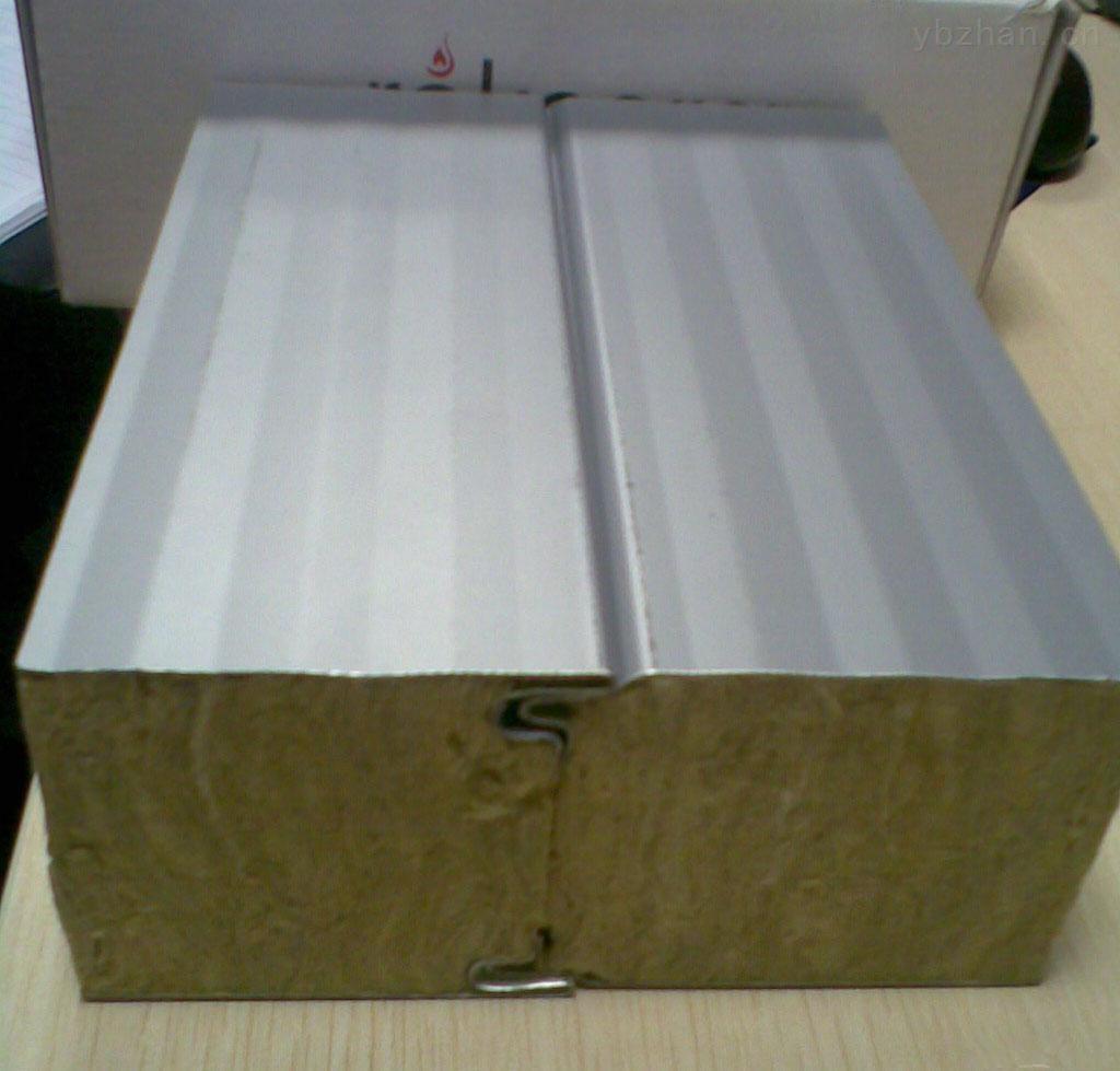 九纵专业生产复合岩棉保温板 彩钢夹心板