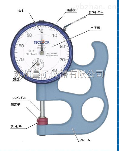 SM-112厚薄表|日本得乐TECLOCK指针式厚度表