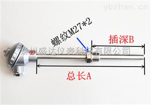 K型装配式热电偶固定螺纹0-1100℃WRN-230