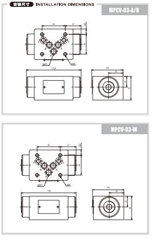 台湾久冈jeougang叠加式液控单向阀mpcv-02-w-05-10现货图片