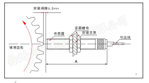 szcb-01磁阻式转速传感器 转速探头 无源转速传感器